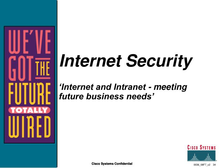 Internet security internet and intranet meeting future business needs