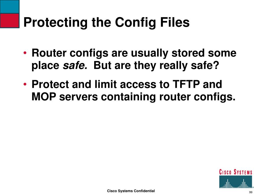 Protecting the Config Files