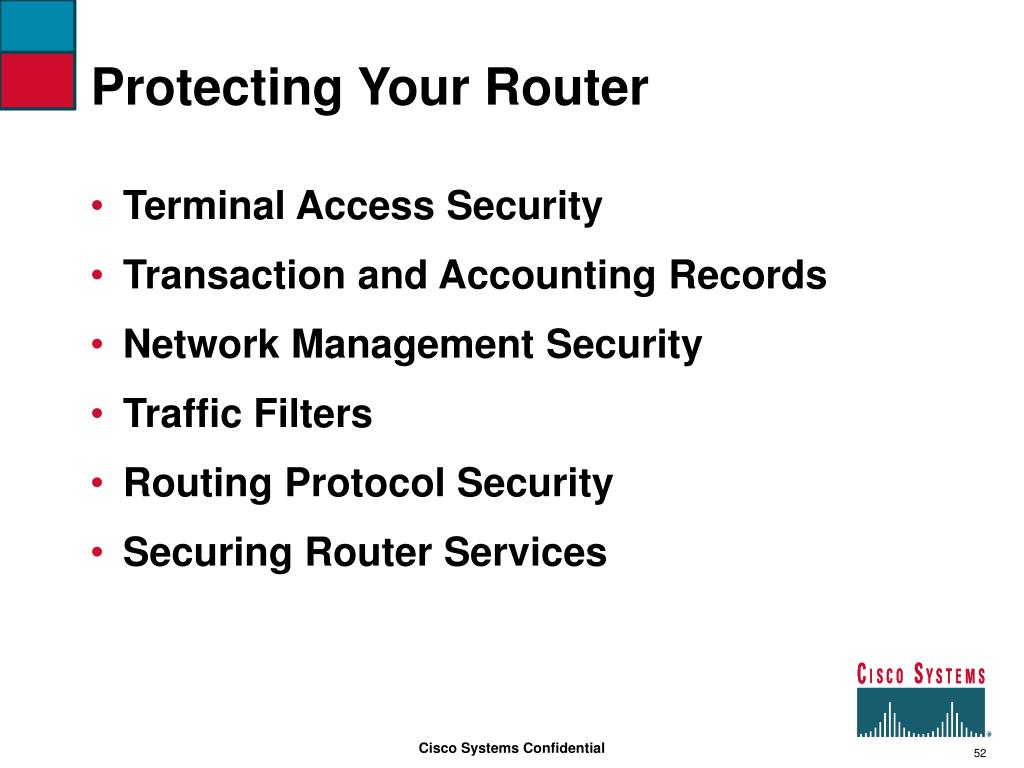 Protecting Your Router