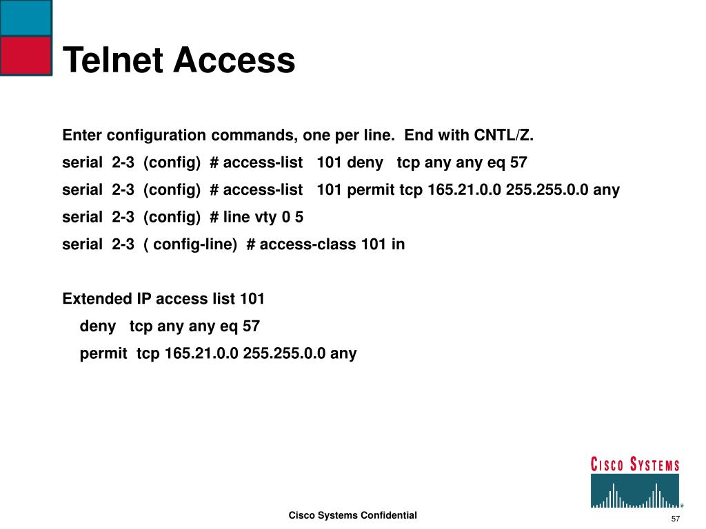 Telnet Access