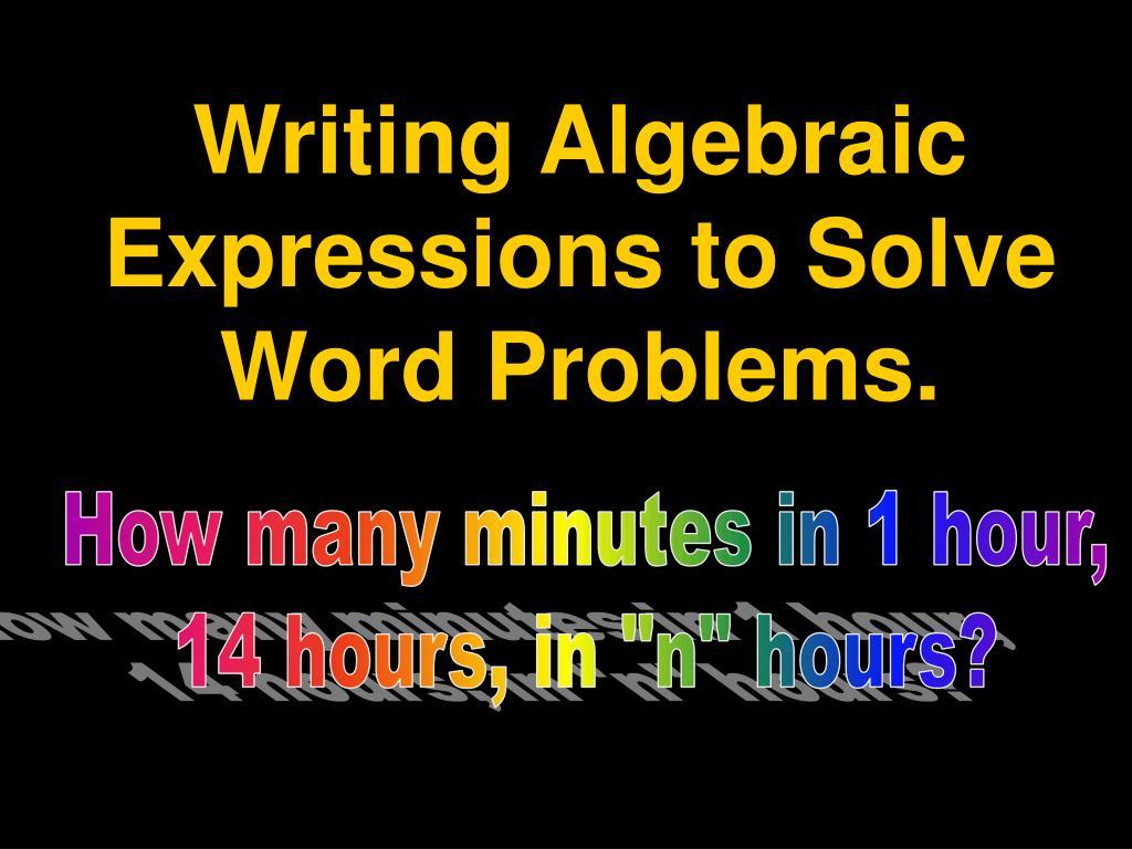 solving word problems using algebra