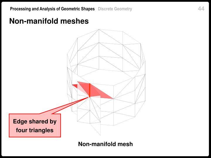 Non-manifold meshes