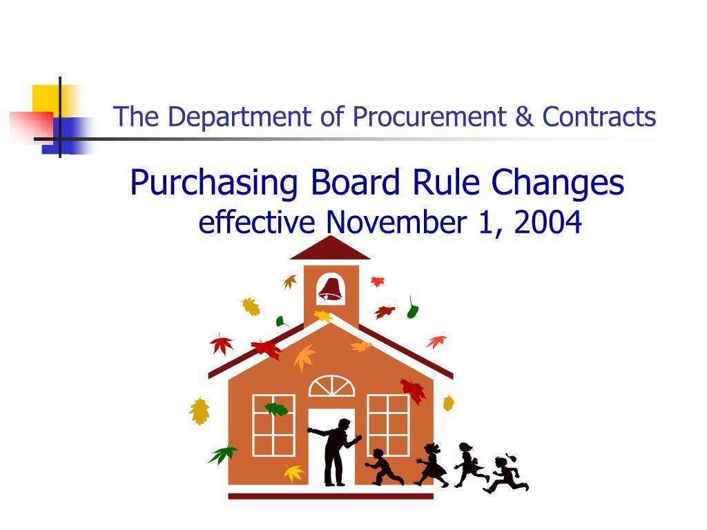 the department of procurement contracts l.