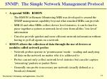 snmp the simple network management protocol18