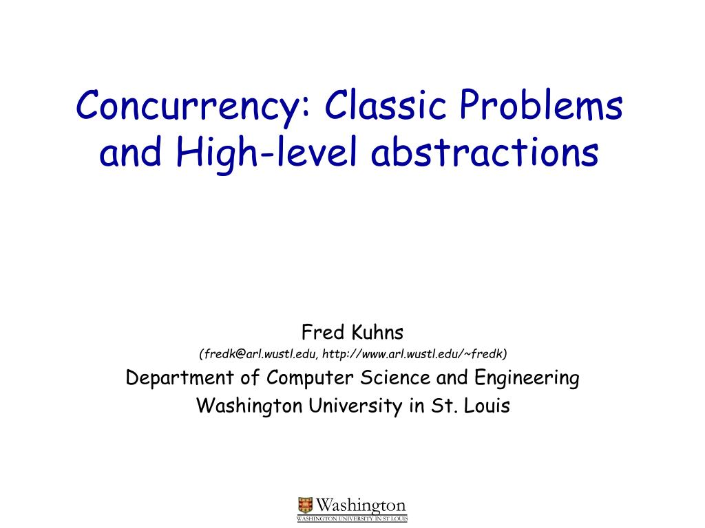 concurrency classic problems and high level abstractions l.
