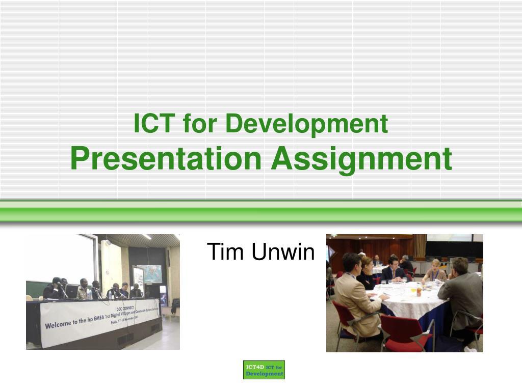 ICT for Development