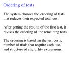 ordering of tests