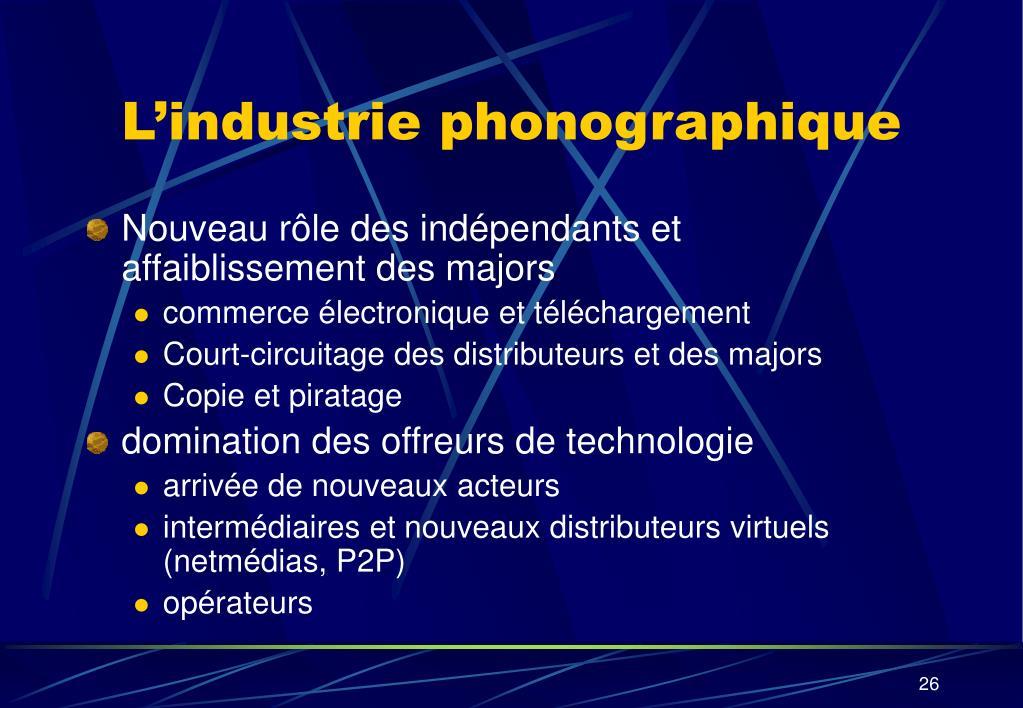 L'industrie phonographique