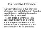 ion selective electrode