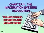 chapter 1 the information systems revolution