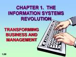 chapter 1 the information systems revolution1