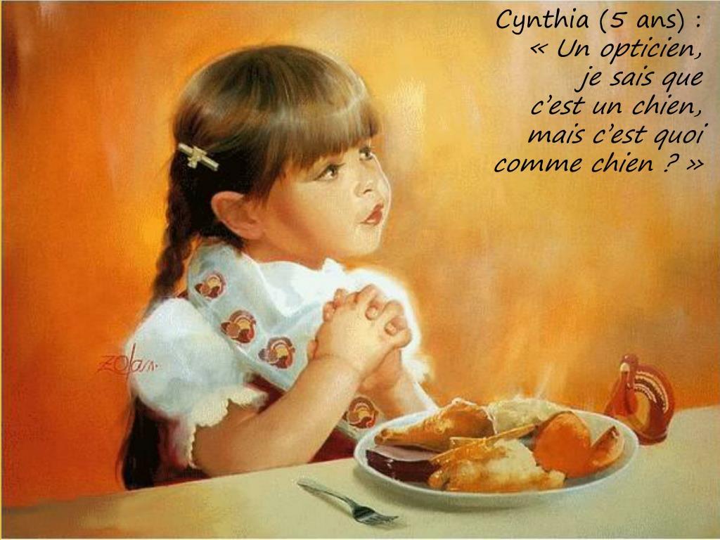 Cynthia (5 ans) :
