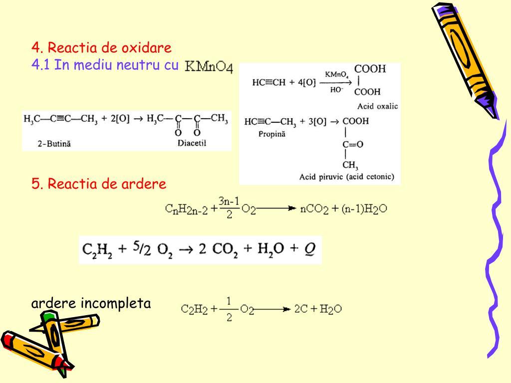 4. Reactia de oxidare