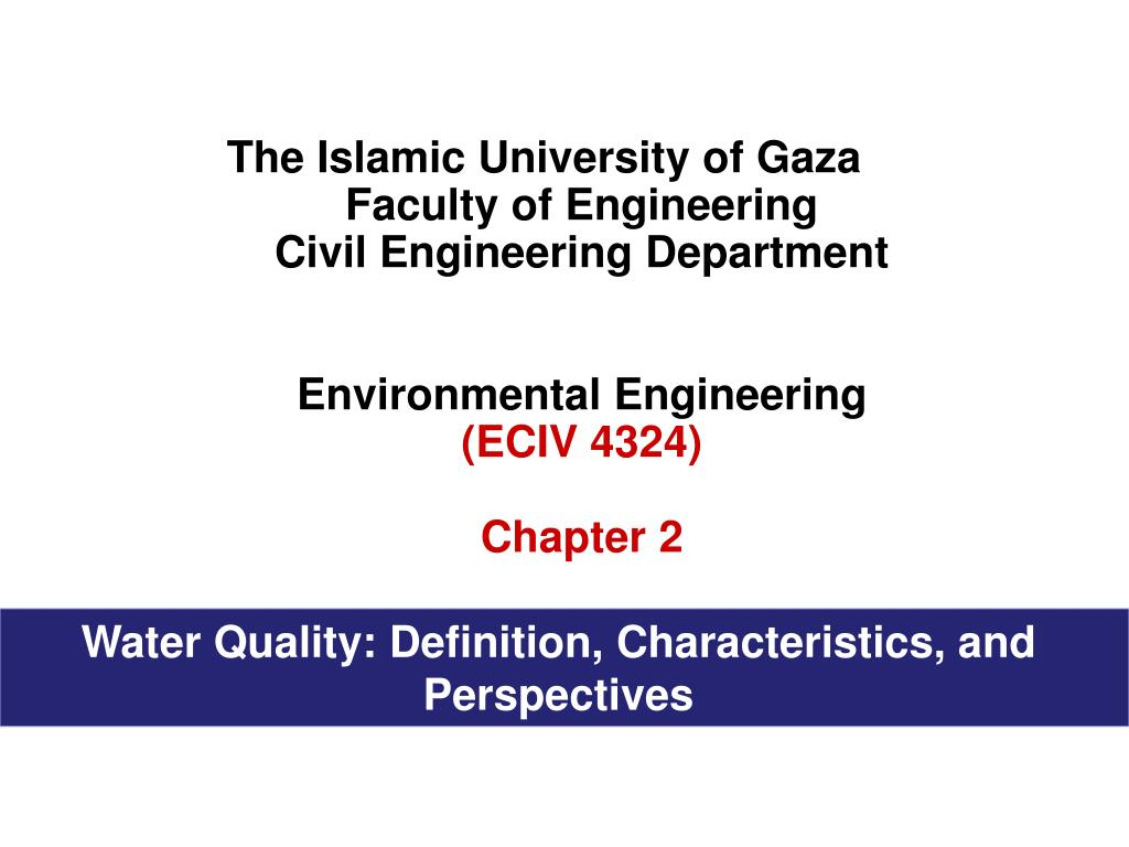 ppt - the islamic university of gaza faculty of engineering civil