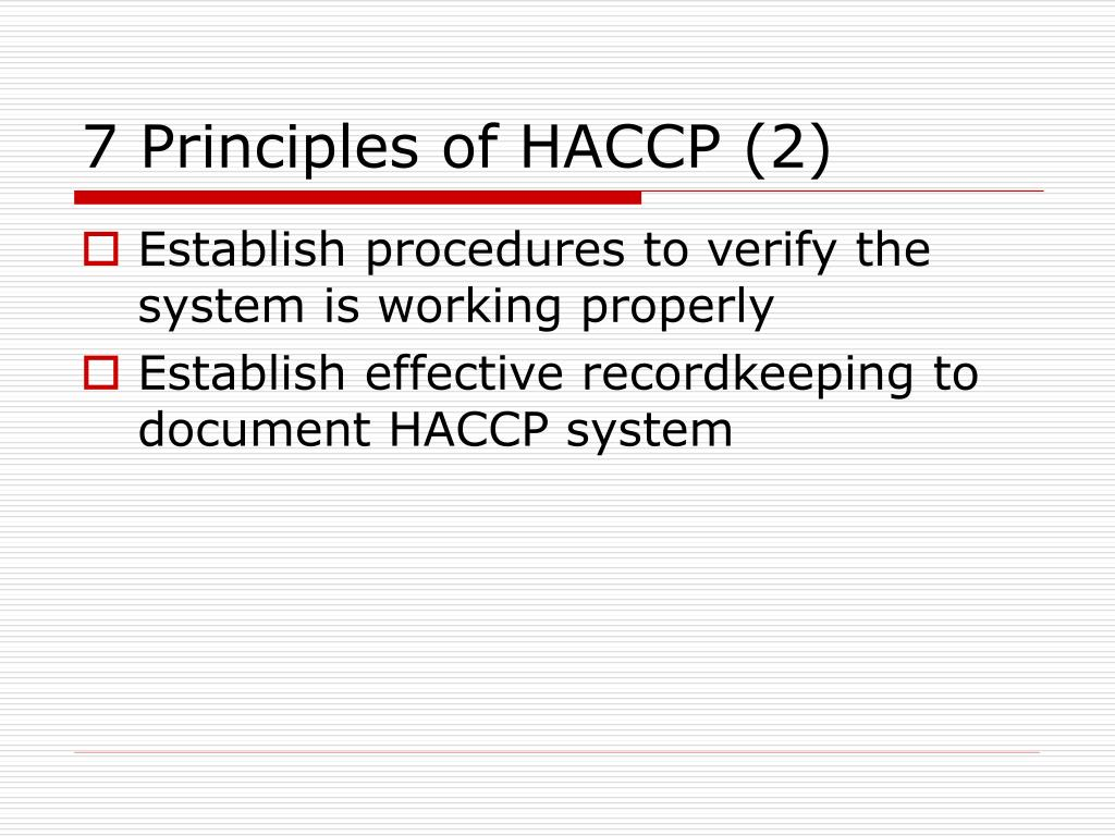 7 Principles of HACCP (2)