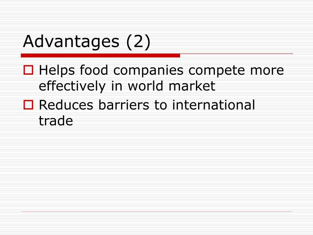 Advantages (2)