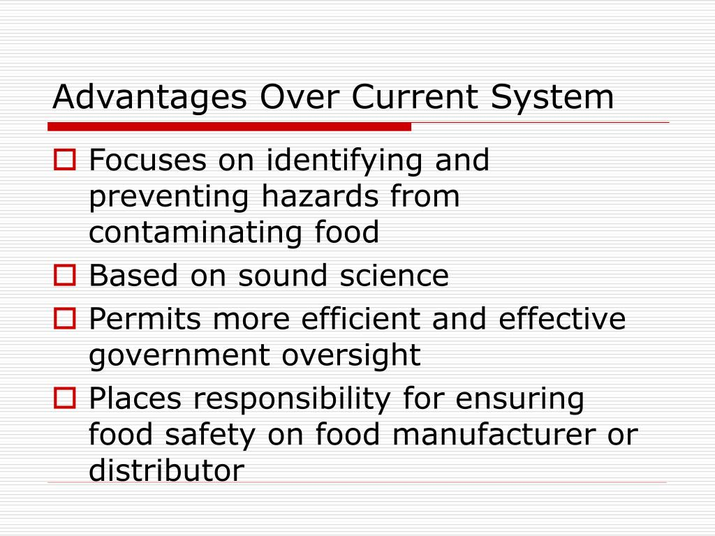 Advantages Over Current System