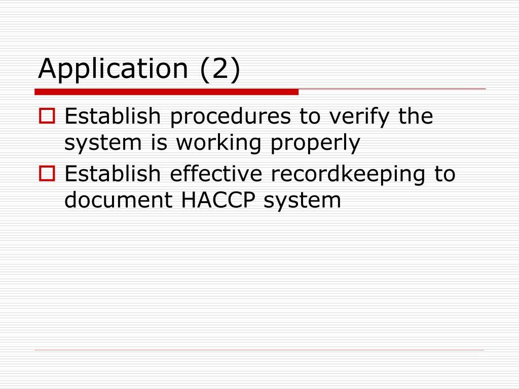 Application (2)