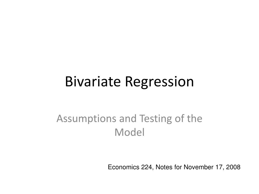bivariate regression l.