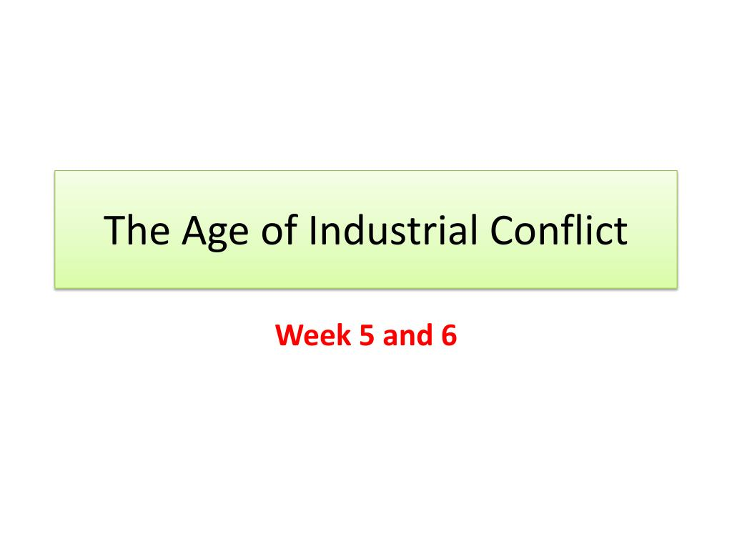 the age of industrial conflict l.