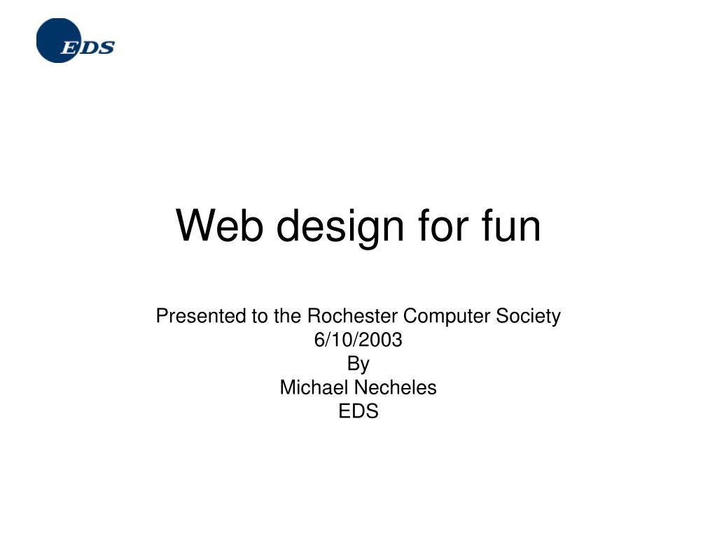 web design for fun l.