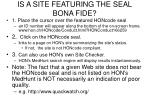 is a site featuring the seal bona fide