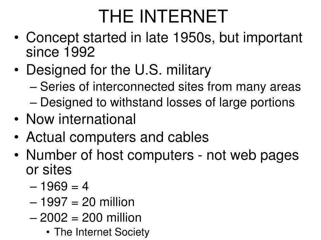 the internet l.