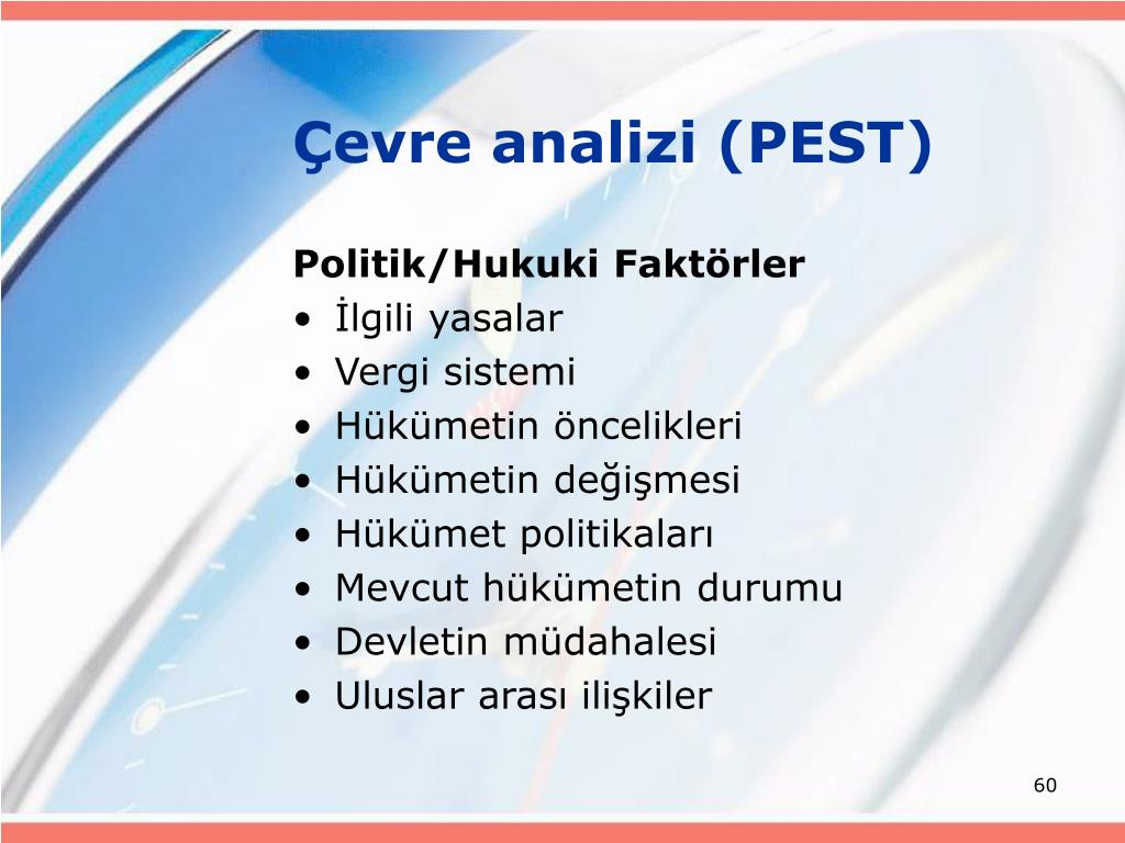 Çevre analizi (PEST)