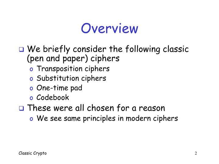 PPT - Classic Crypto PowerPoint Presentation - ID:583021