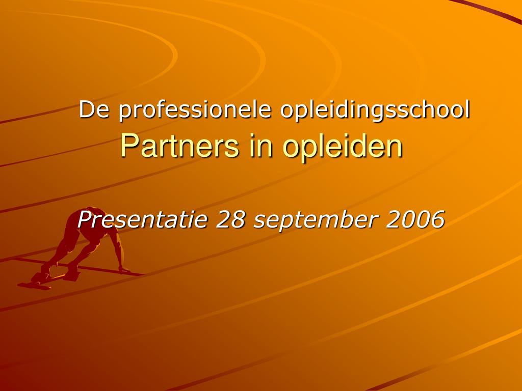 presentatie 28 september 2006 l.