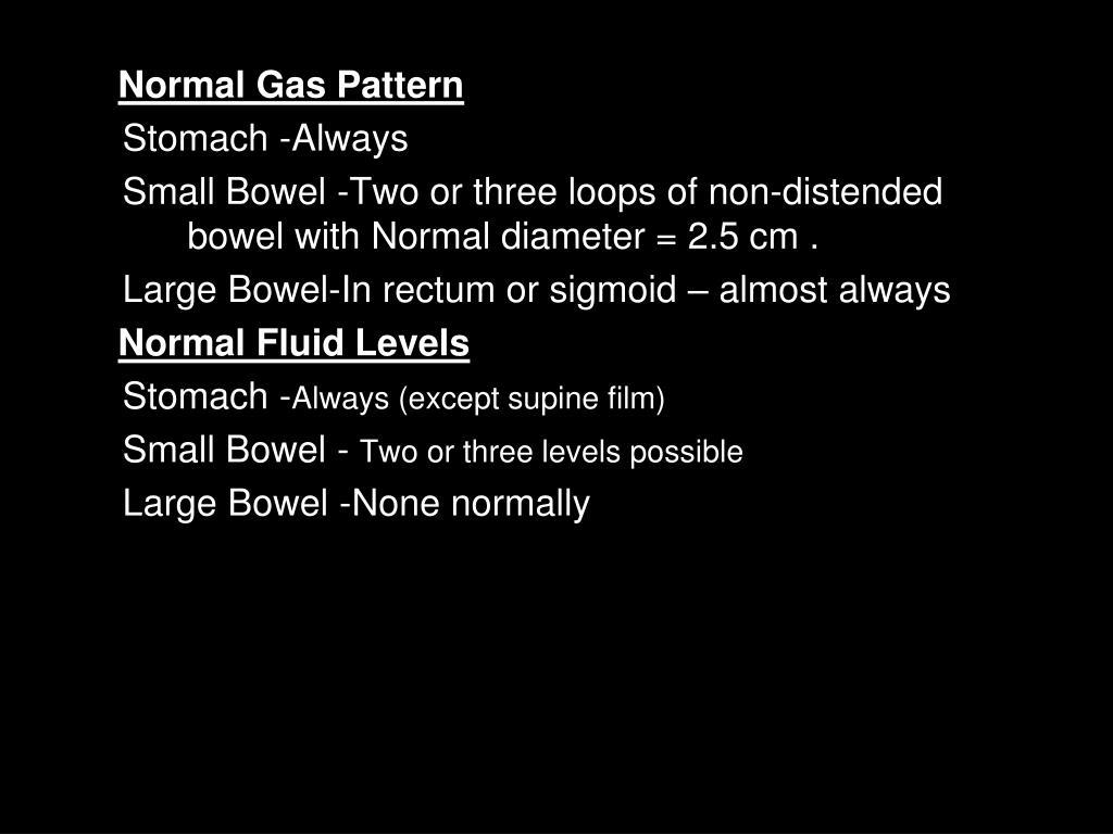 Normal Gas Pattern