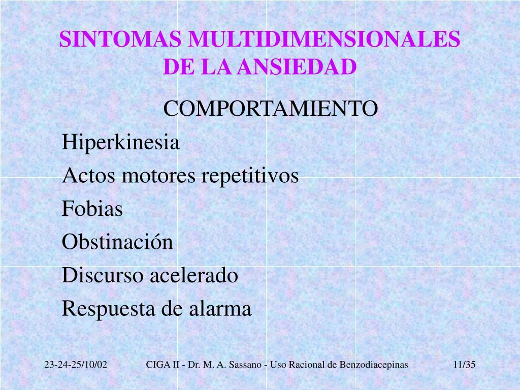SINTOMAS MULTIDIMENSIONALES DE LA ANSIEDAD
