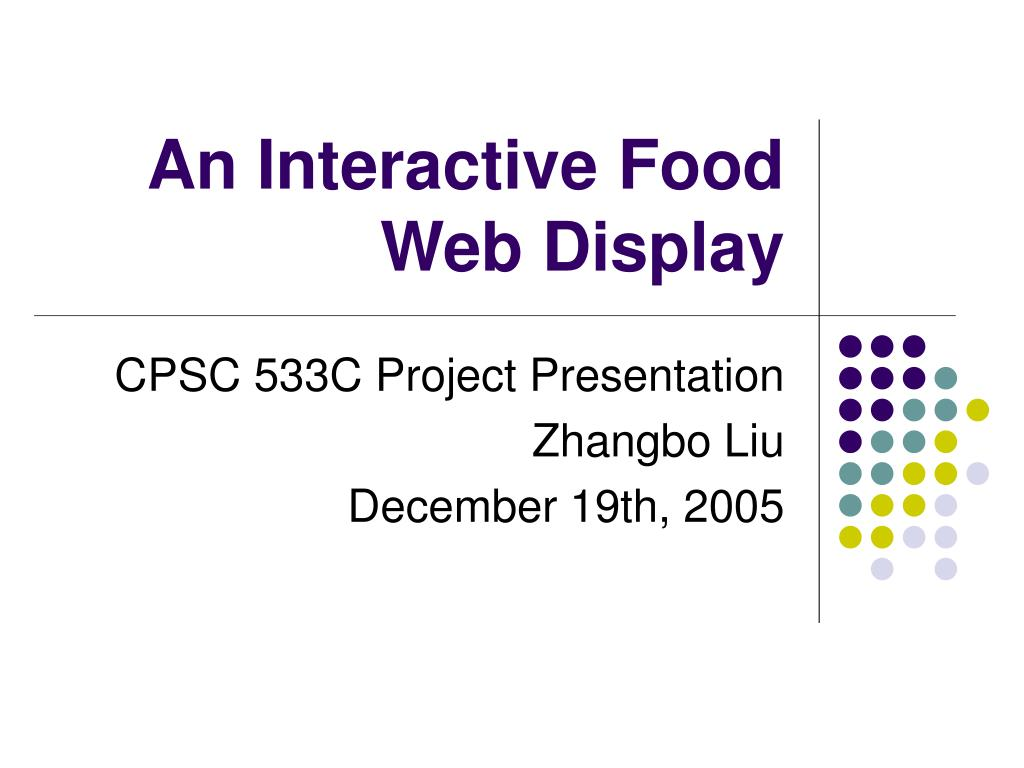 an interactive food web display l.