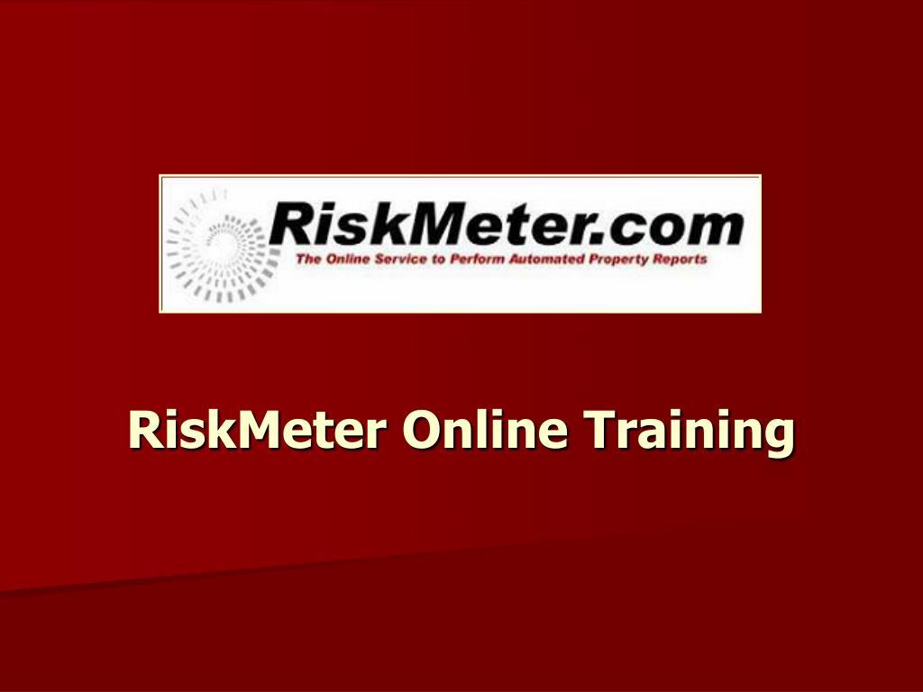 riskmeter online training l.
