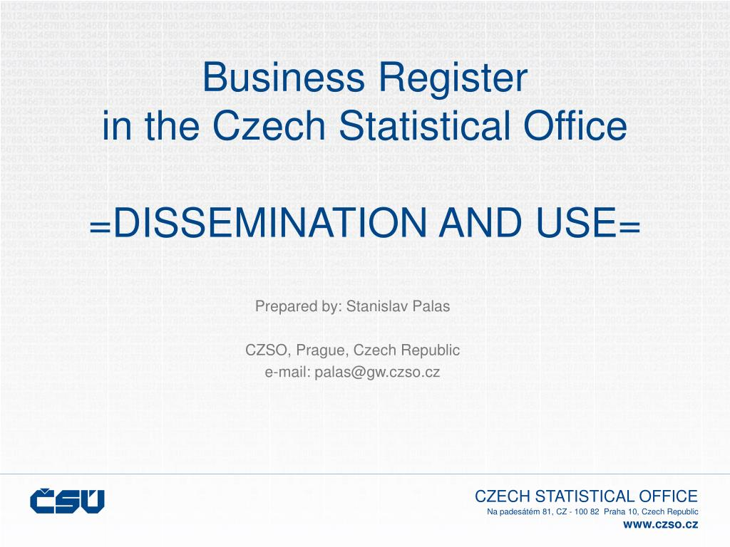 business register in the czech statistical office dissemination and use l.
