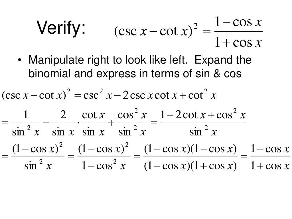 Verify: