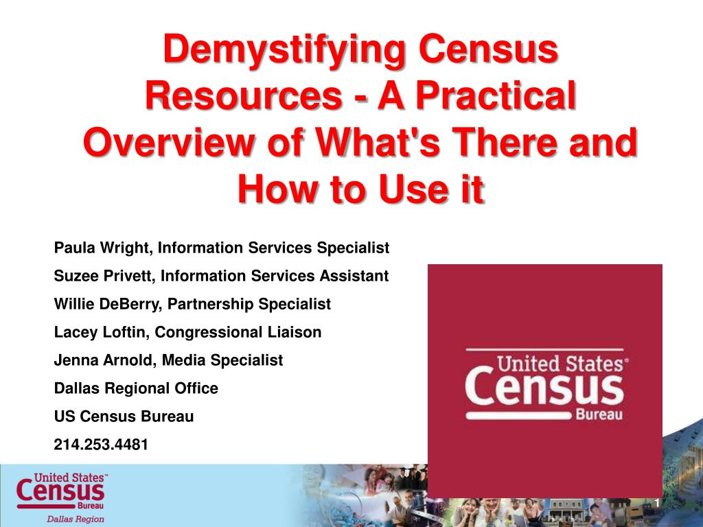 demystifying census resources a practical overview of what s there and how to use it l.