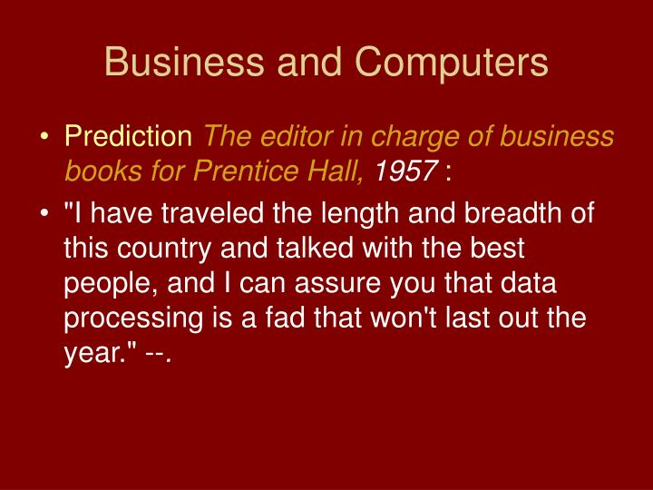 Business and Computers