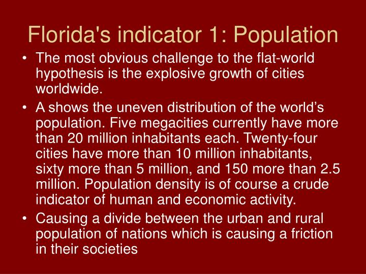 Florida's indicator 1: Population