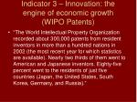 indicator 3 innovation the engine of economic growth wipo patents