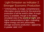 light emission as indicator 2 stronger economic production