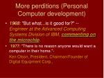 more perditions personal computer development