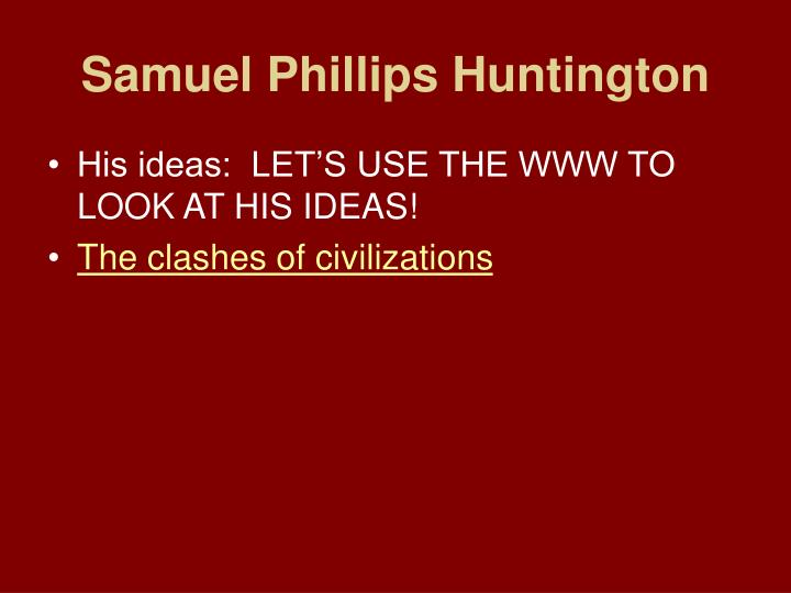 Samuel Phillips Huntington