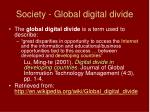 society global digital divide