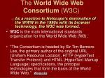 the world wide web consortium w3c