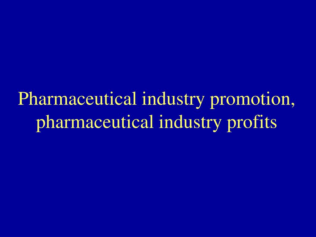 Pharmaceutical industry promotion,