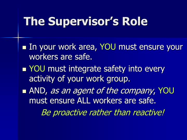 Ppt Supervisory Training 2007 Includes Surface Certification