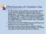effectiveness of condom use
