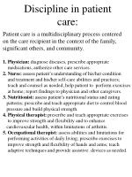 discipline in patient care