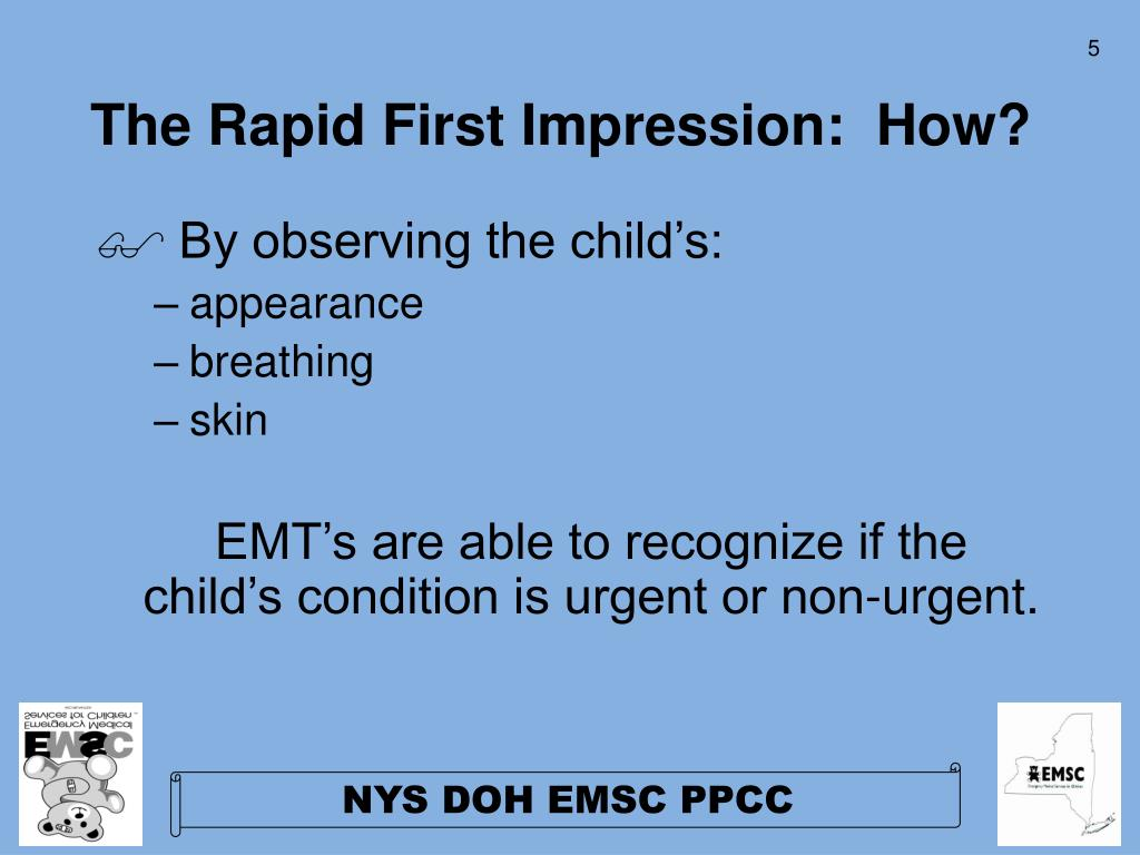 The Rapid First Impression:  How?